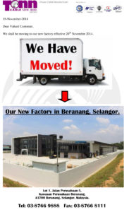 We are move to new factory